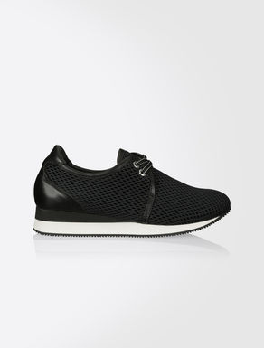 Tech fabric mesh sneaker