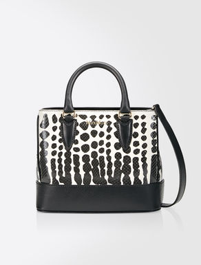 Animalier print leather tote bag