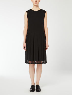 Viscose jersey and tulle dress