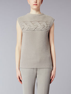 Wool and cashmere top