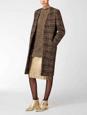 Double wool and alpaca overcoat