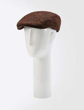 Wool and silk tweed hat