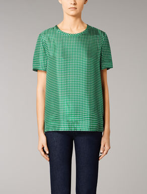 Silk twill T-shirt
