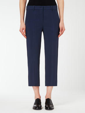 Viscose crepe trousers