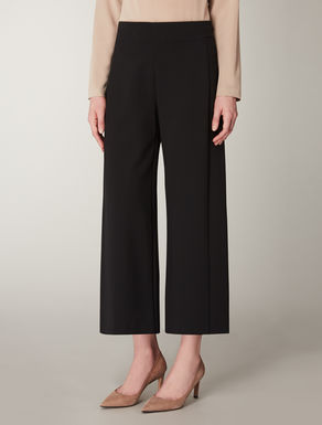 Pantaloni cropped in jersey di viscosa