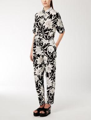 Silk crepe de chine jumpsuit