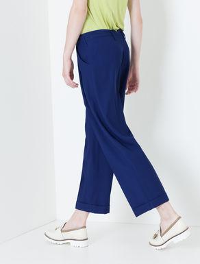 Pantaloni wide fit di gabardine