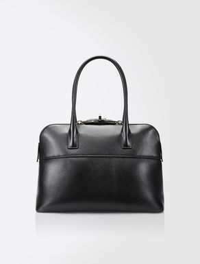 Easy leather shopping bag