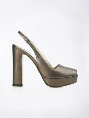 Scarpe open-toe in pelle