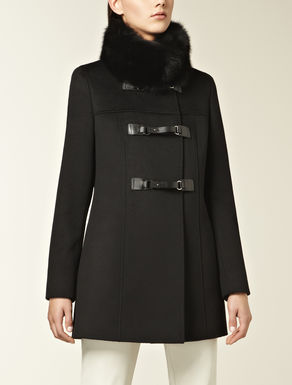 Pure wool drap duffle coat