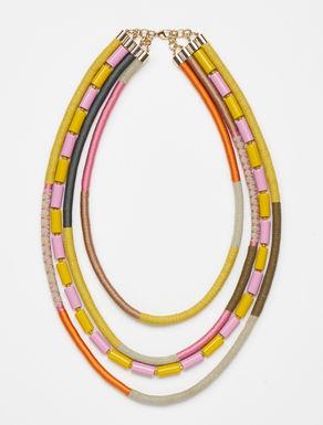 Multi-strand resin necklace