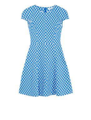 Corolla Dress a disegno geometrico