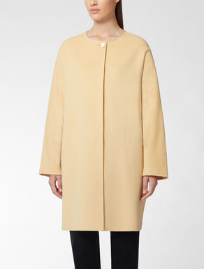 Pure wool cocoon coat