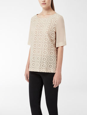 Lace knit shirt
