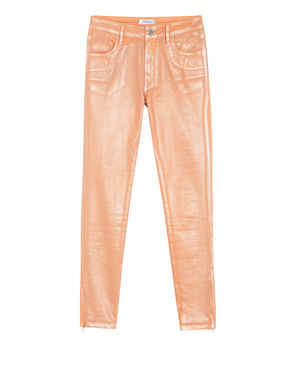 Pantaloni skinny fit laminati