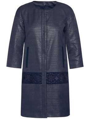 Jacquard overcoat