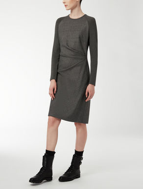Wool, silk and jersey dress