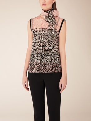 Top in chiffon di seta