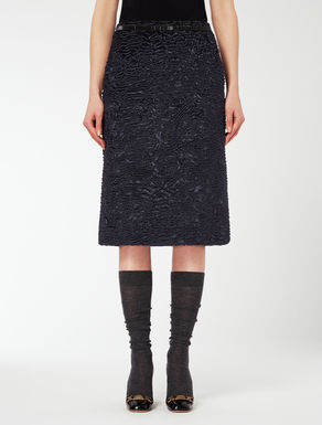 Astrakhan effect fabric skirt