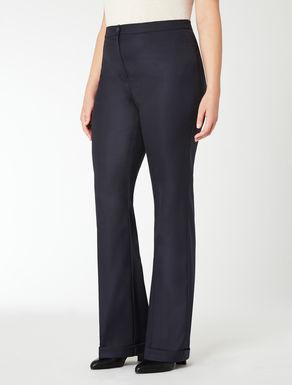 Pantalone in lana e seta stretch