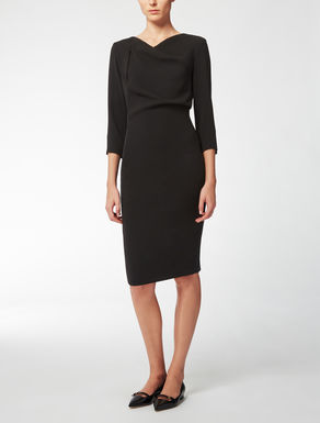 Cady and viscose jersey dress