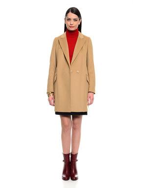 Cappotto in drap di misto lana