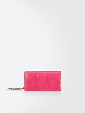 Leather pochette bag