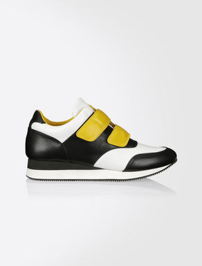 Three-colour nappa sneakers