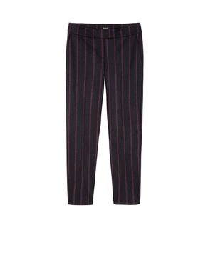 Pantaloni slim fit di flanella stretch