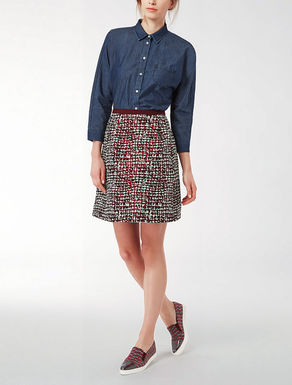 Spotted jacquard skirt