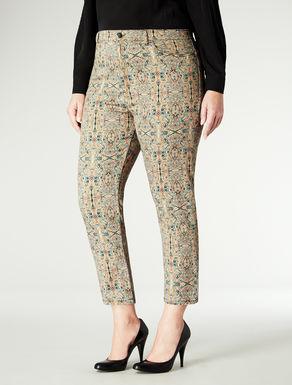 Pantaloni in cotone stampa paisley