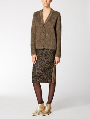Wool, cashmere and mohair cardigan