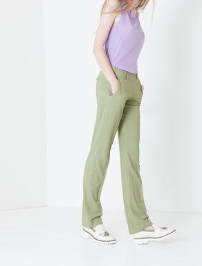 Pantaloni straight fit di gabardine