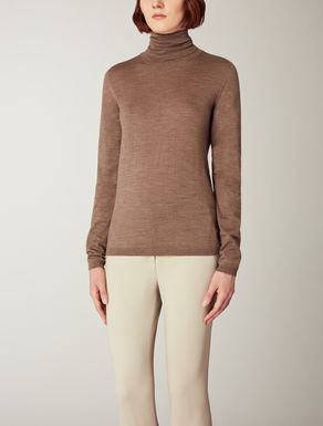 Pure wool turtleneck top
