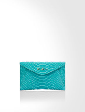 Python print leather mini clutch