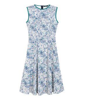Corolla Dress di jersey stampato