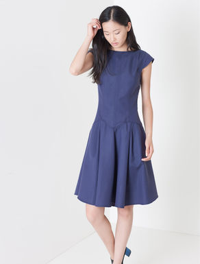 Corolla Dress di tessuto piqué
