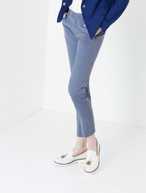 Pantaloni slim fit con texture check