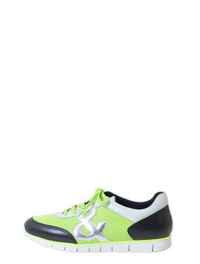 Sneakers di pelle e tessuto