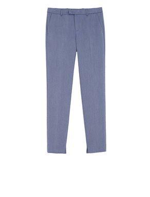 Pantaloni slim fit con texture check