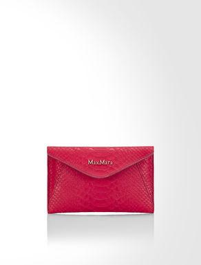Python print leather mini clutch