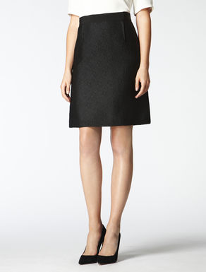 Black jacquard textured skirt