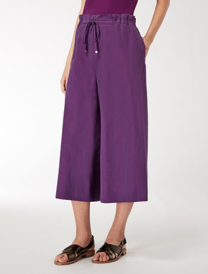 Linen and cotton trouser skirt