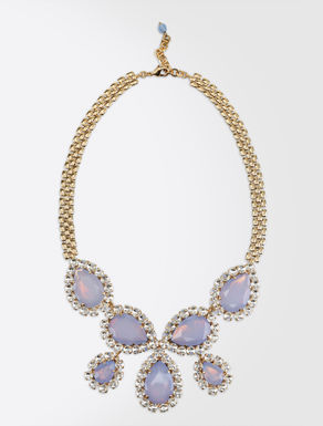 Gem and rhinestone necklace