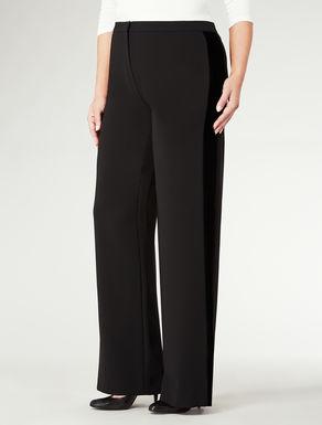 Pantalone con striscia in velluto