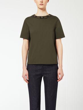 T-shirt in popeline di cotone