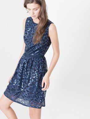 Corolla Dress di tulle con paillettes