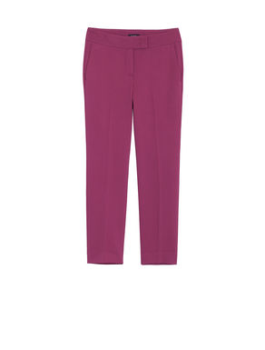 Pantaloni slim fit di cady stretch