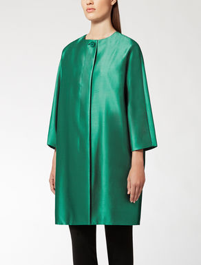 Shantung silk and cotton coat