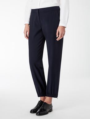 Wool and viscose twill trousers